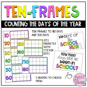 Ten Frames Counting Chart - Days of the School Year by Sweet and ...