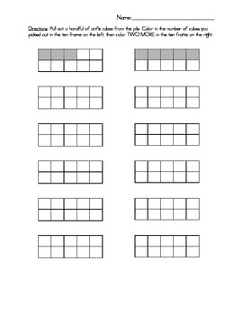 Ten Frames & Cubes: One More One Less Activity