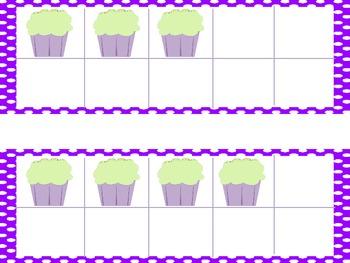 Ten Frames: Cupcakes