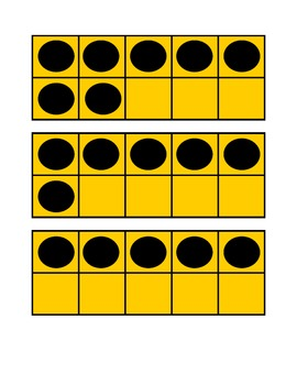 Ten Frames, Double Dice, Numeral Cards (subitize)