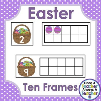 Ten Frames • Easter