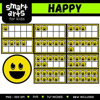 Ten Frames Emoji Clip Art