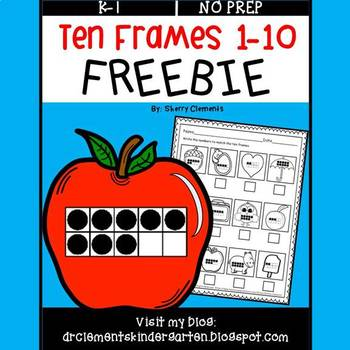 FREE DOWNLOAD : Ten Frames FREEBIE (1-10)