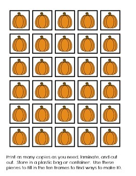 Ten Frames- Fall Edition