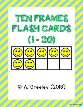 Ten Frames Flash Cards (1-20)