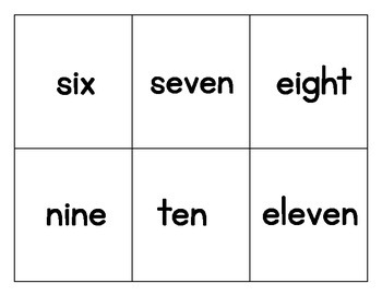 Ten Frames Flash Cards