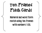 Ten Frames Flash Cards