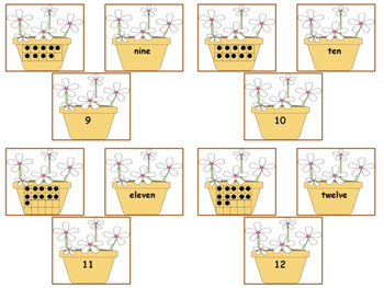 Counting   Ten Frames  0-20    Match Number with Number Words