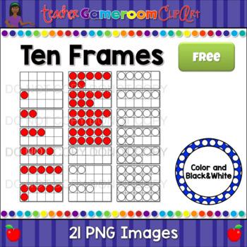 Ten Frames Clip Art Freebie