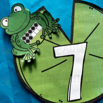 Ten Frames: Frog and Lily pad Ten Frame Matching