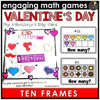 Valentine's Day Ten Frames Game