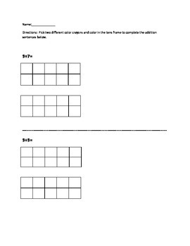 Ten Frames Game and Lesson: editable