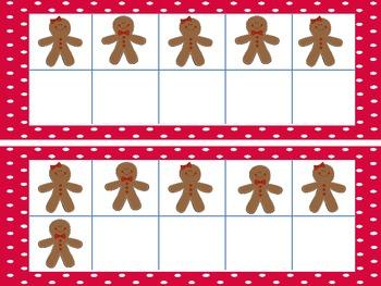 Ten Frames: Gingerbread Kids