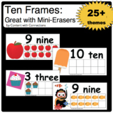 Ten Frames: Great with Mini Erasers & other Counters for Math Centers