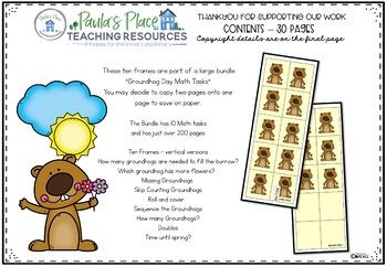 Ten Frames - Groundhog Day Theme