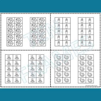 """Dab or Color """"Cute Ten Frames"""" (Ten Frames)"""