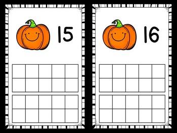 Halloween Ten Frames - Halloween Math Center