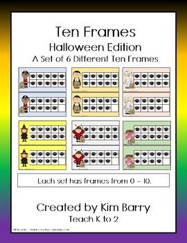Ten Frames- Halloween Edition