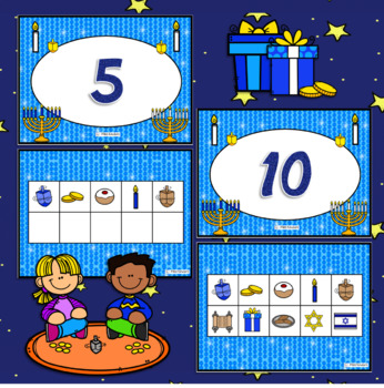 Ten Frames Hanukkah Theme