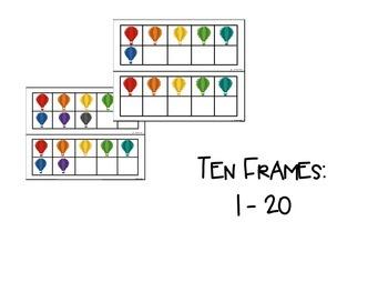 Ten Frames: Hot Air Balloons