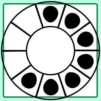 Ten Frames In Circles with Blank Center Clip Art Set for Commercial Use