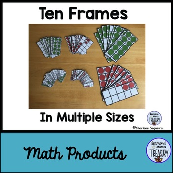 Ten Frames In Multiple Sizes