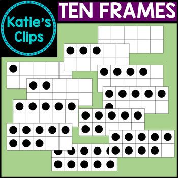 Ten Frames {Katie's Clips Clipart}