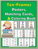 Ten Frame Number Posters 0-10, Matching Activity & Coloring Book
