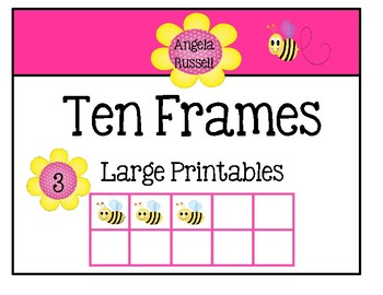 Ten Frames ~ Large Printables For Your Classroom