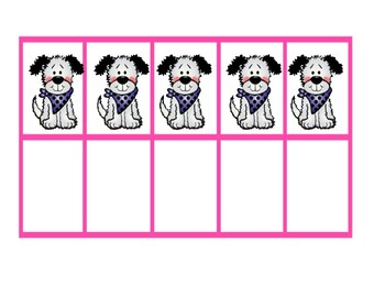 Ten Frames ~ Large Puppy Printables