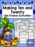 Making Ten and Twenty - Ten Frames {Set 1 - Summer}