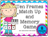 Ten Frames Match Up and Memory Game