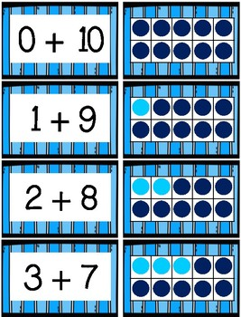 Ten Frames Matching Activity for Making 10