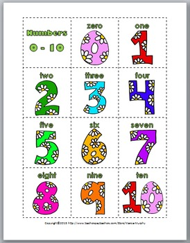 Ten Frames Matching Game - Spring Math - Numbers 1-10 and 11-20- Spring Activity