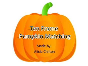 Ten Frames Matching Pumpkins