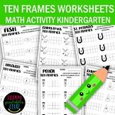 Ten Frames Math Activity Worksheets Kindergarten-Ten Frame