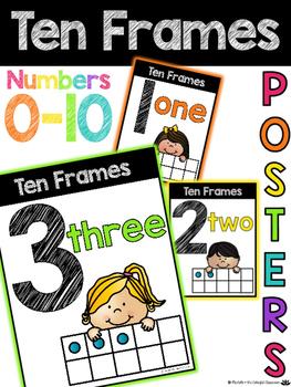 Ten Frames Math Posters