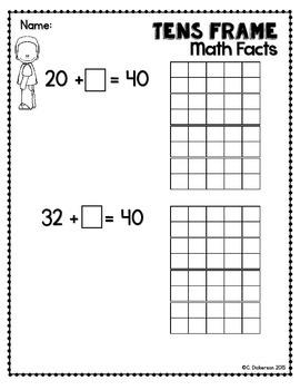 Ten Frames Missing Addend Equations 1.OA.8 2.OA.1