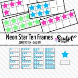 Ten Frames Clip Art ~ Neon Stars