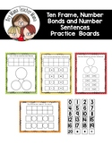 Ten Frames, Number Bonds and Number Sentences Activity Boards
