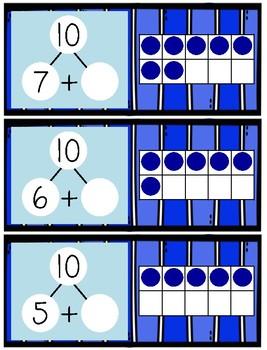 Ten Frames & Number Bonds to Make 10