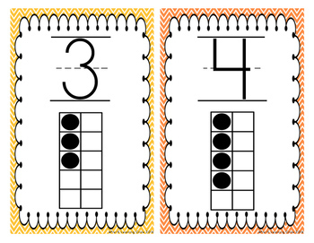 Ten Frames Number Line