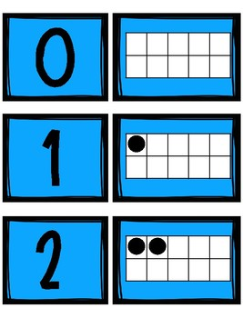 Ten Frames Number Match Cards 0 to 10