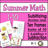 Summer Kindergarten Math Center Activities for 1-10