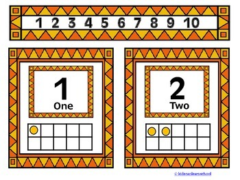 Ten Frames-Numbers 1 to 10.
