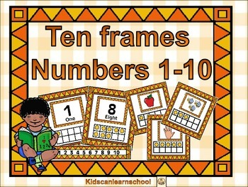 Ten Frames-Numbers 1 to 10.