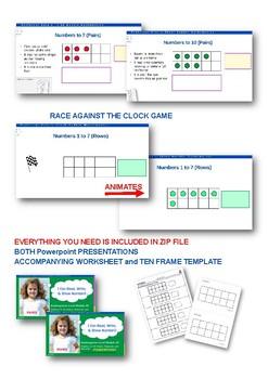 Ten Frames: Numbers to Ten PPT