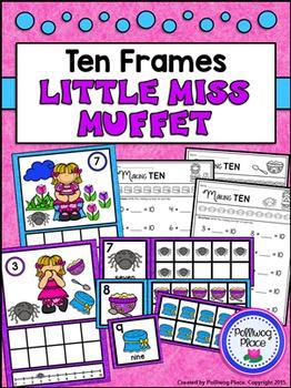 Ten Frames: Nursery Rhymes - Little Miss Muffet