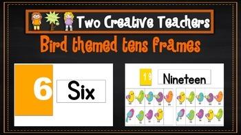 Ten Frames Pack Boho Bird Theme