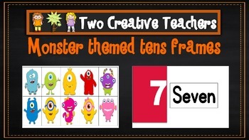 Ten Frames Pack Monster Theme